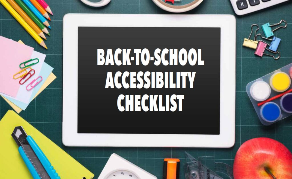 Back-to-School Accessibility Checklist