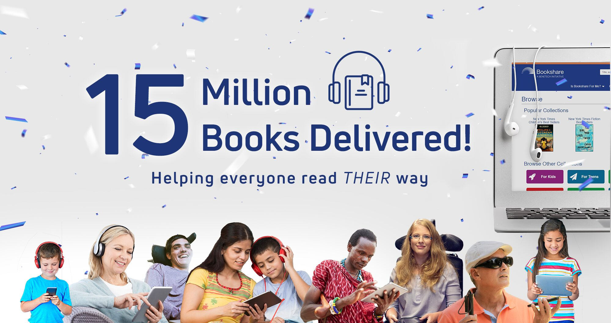 Benetech Delivers 15 Million Books to People with Reading Barriers