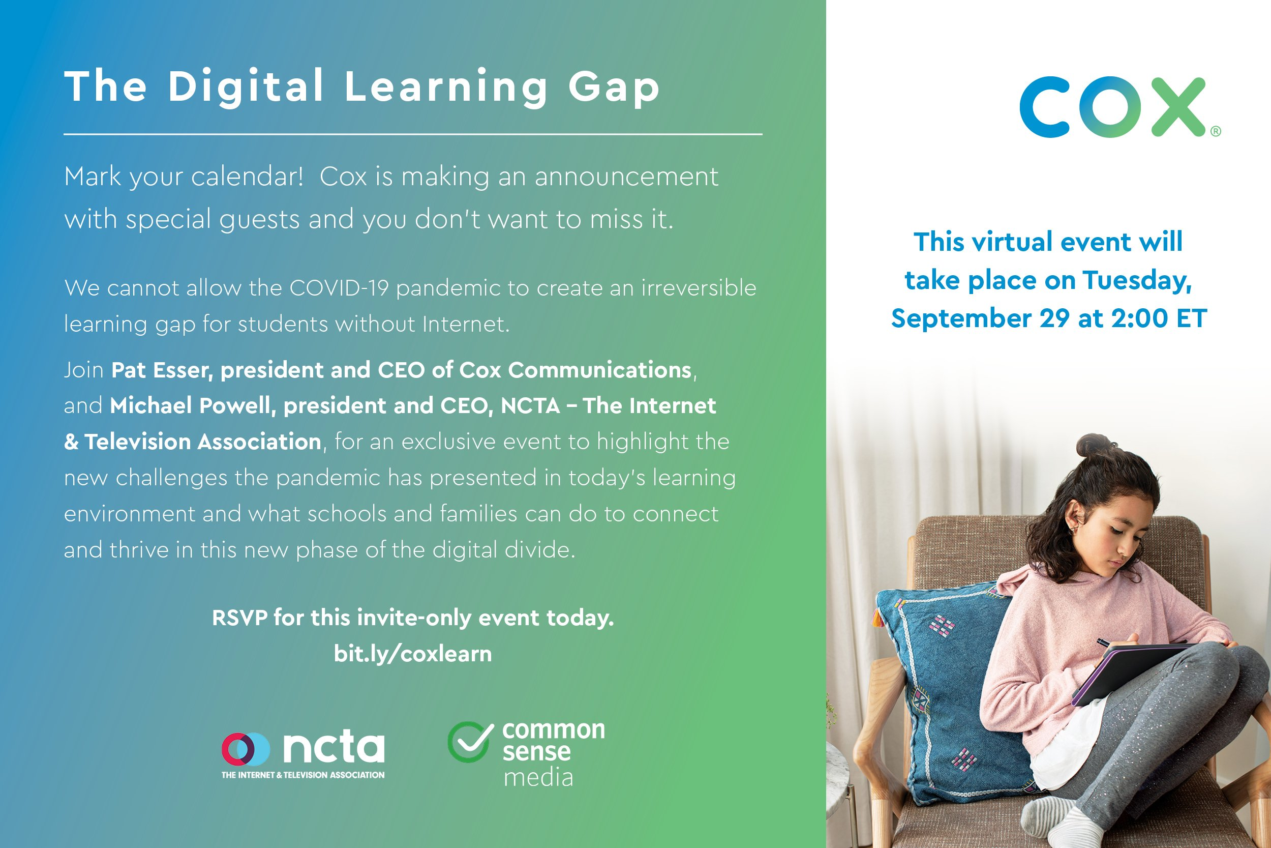 The Digital Learning Gap Press Event