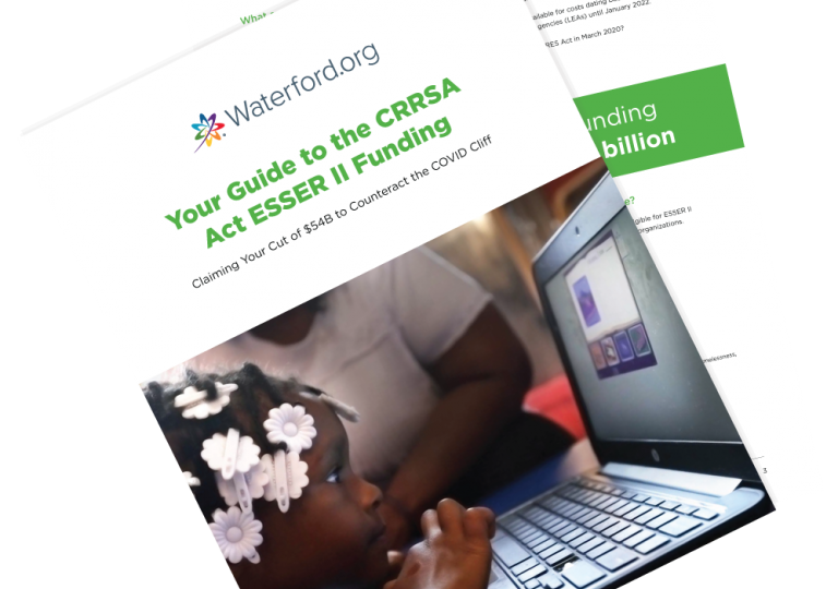 "Free Resource From Waterford.org: ""Guide to CRRSA Act ESSER II Funding"""