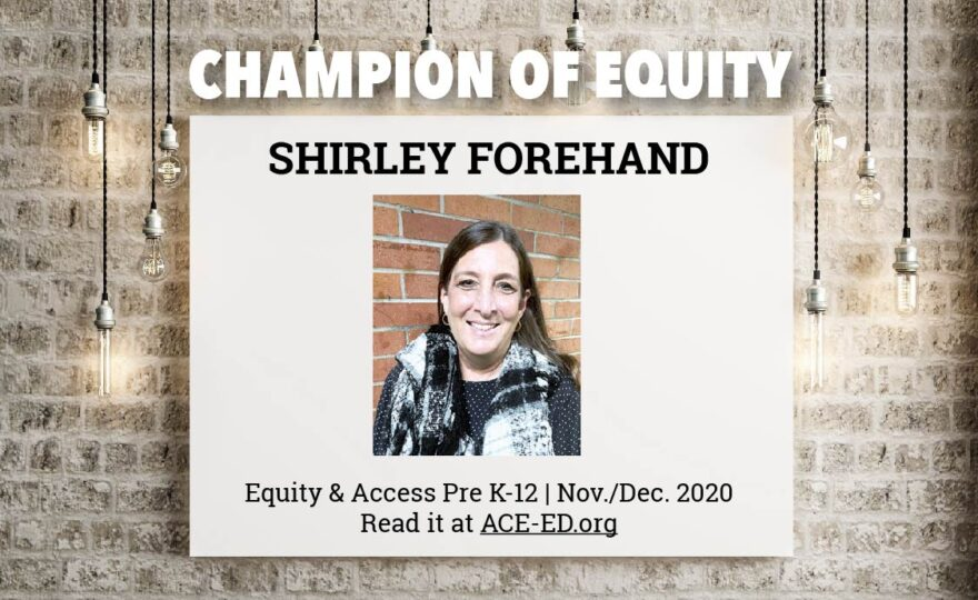 Shirley Forehand, Champion of Equity
