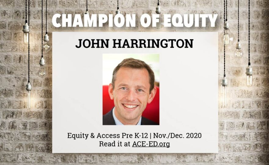 John Harrington, Champion of Equity
