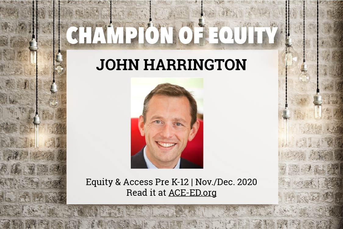 John Harrington, Champion of Equity