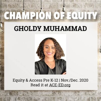 Gholdy Muhammad, Champion of Equity
