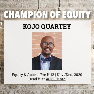 Kojo Quartey, Champion of Equity