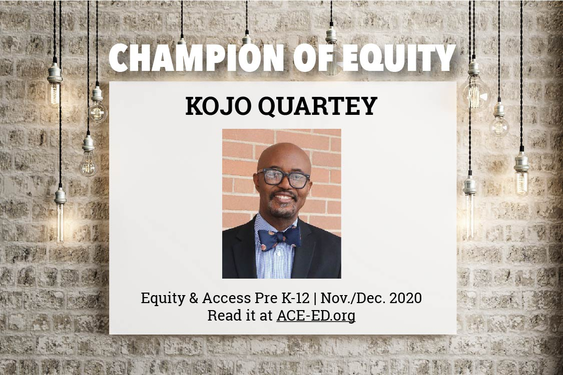 Kojo Quartey, Champion of Equity